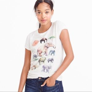 J Crew for The Love of Elephants T-Shirt
